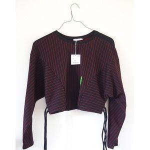 NWT Zara pinstriped red and black sweater 🌸❤️
